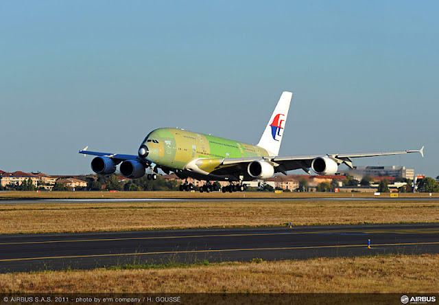 First Airbus A380 Malaysia Airlines