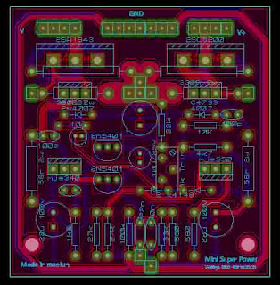 PCB Layout design 200W Super Simple Power Amplifier