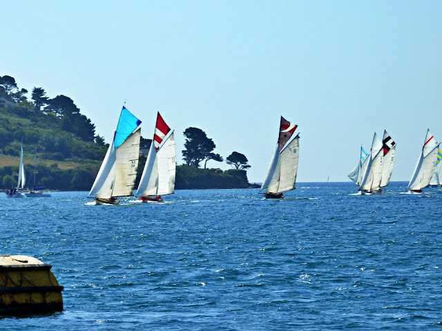 Racing boats, River Fal, Cornwall
