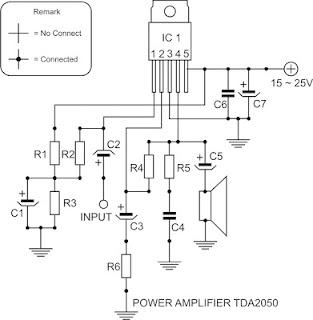 TDA2050 Power Amplifier Circuit  Electronic Circuit