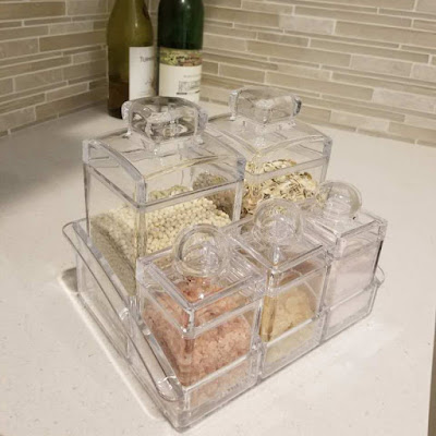 Shop Nile Corp Wholesale Acrylic 5 Pieces Seasoning Box Spice Jar Seasoning Containers and Food Storage