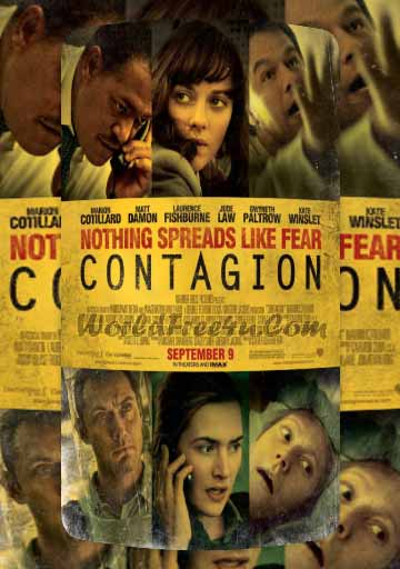 Poster Of Contagion In Dual Audio Hindi English 300MB Compressed Small Size Pc Movie Free Download Only At worldfree4u.com