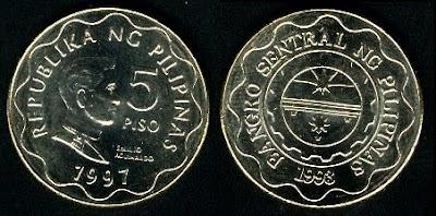 Philippines 5 Piso (1995+)