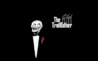 The Trollfather Funny Trollface HD Wallpaper