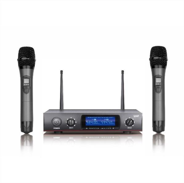 DJ Karaoke System Machine Wireless 2 Microphones Singing ...