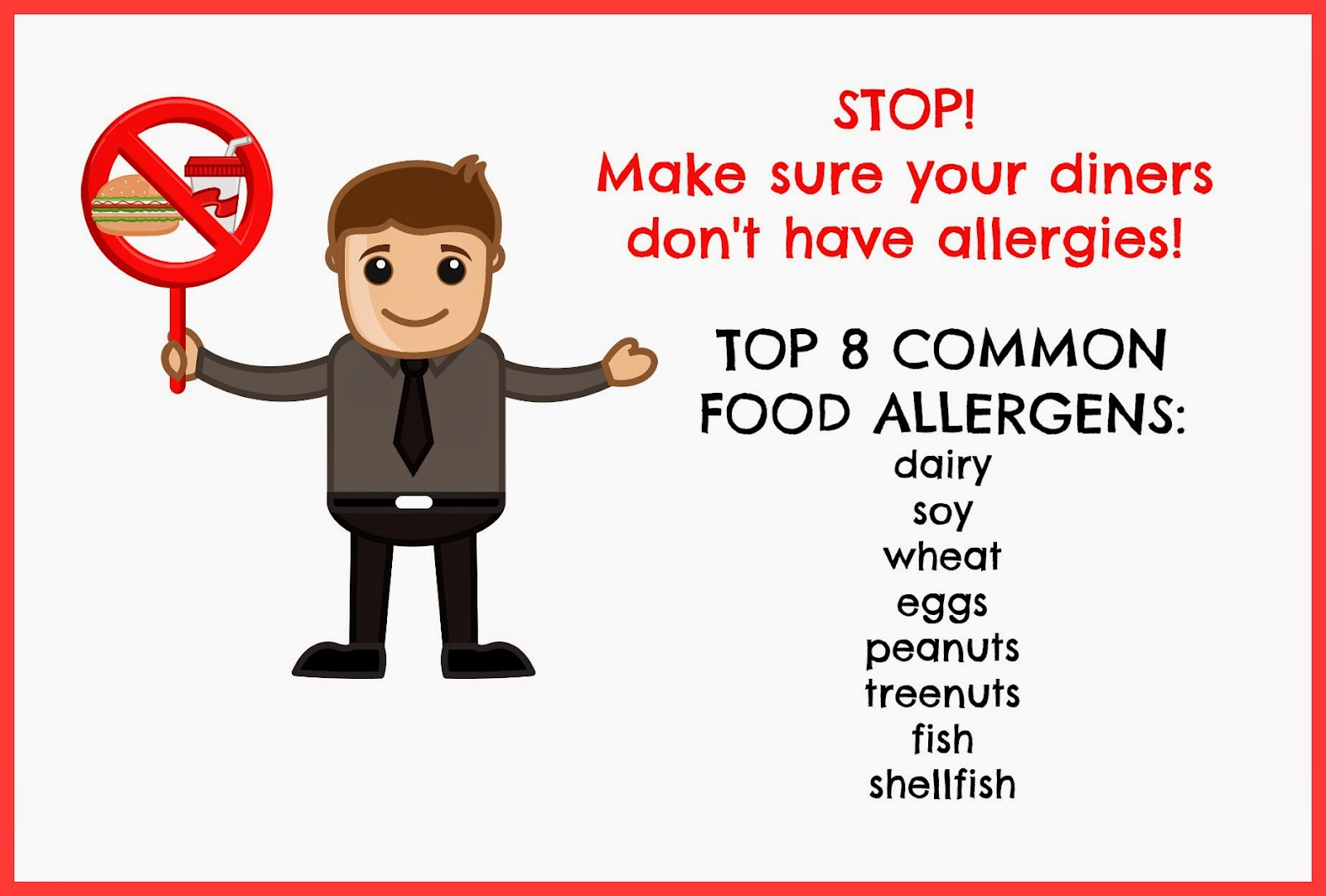 STOP: CHECK TO MAKE SURE YOUR DINNER GUESTS AREN'T ALLERGIC TO THEIR MEAL!