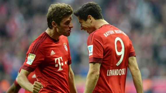 Bayern Munich duo, Thomas Muller and Robert Lewandowski