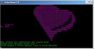 Menyatakan Cinta Menggunakan Coding