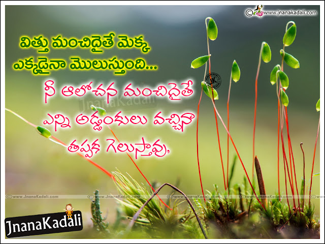 telugu success quotes with hd wallpapers, online telugu motivational hd wallpapers