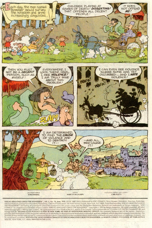 Read online Sergio Aragonés Groo the Wanderer comic -  Issue #78 - 2