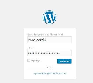 cara Menghilangkan Authentication Required pada Log-in WordPress