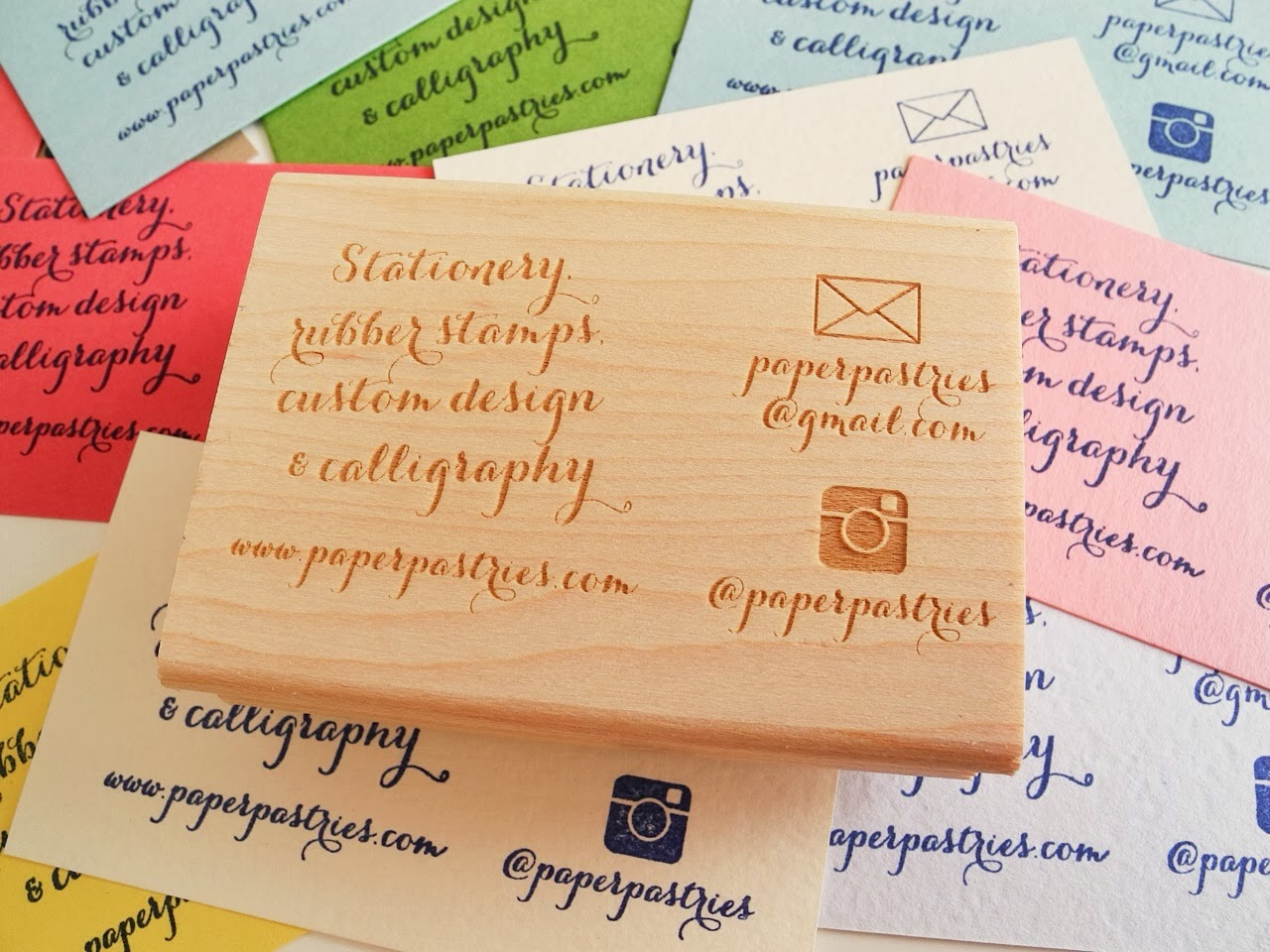 Update New Business Card Rubber Stamp