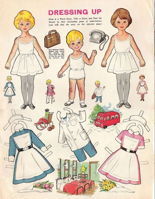 Nora and Tilly Cut Out Dolls