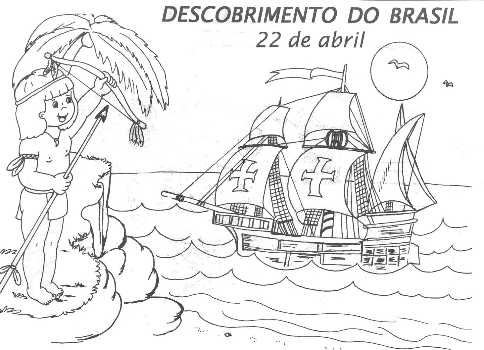 Desenho Sobre O Descobrimento Do Brasil Para Colorir Melhores