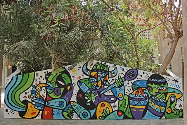 Street Art By Ruben Sanchez In the Al Bastakiya district of Dubai, United Arab Emirates.  1