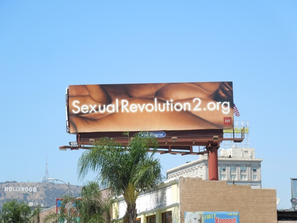 Sexual Revolution 2 naked bodies billboard