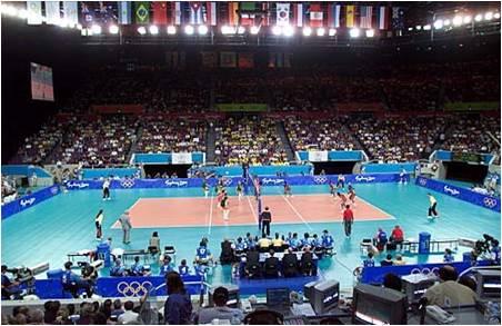 515c09971a O voleibol é um jogo em que os jogadores usam as mãos para tocar a bola.  Porém