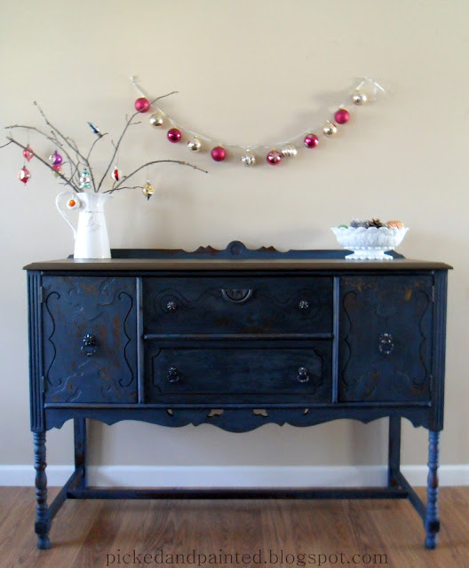 milk paint, refinished buffet, before and after, painted buffet, ofmp, old fashioned milk paint