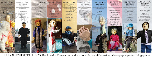 10 bookmarks of the 'life outside the box' puppetry project