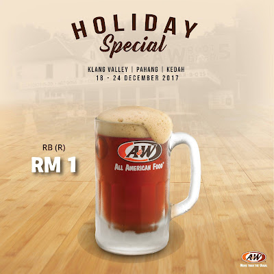 A&W Malaysia Outlets RM1 Root Beer