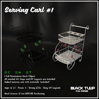 [Black Tulip] Mesh - Serving Cart #1