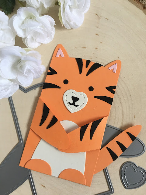 Make a Tiger with Lawn Fawn Woodland Critter Huggers by Jess Crafts
