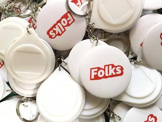 Bikin Gantungan Kunci 4,4 cm Murah - 100 pcs Ganci Folks Store