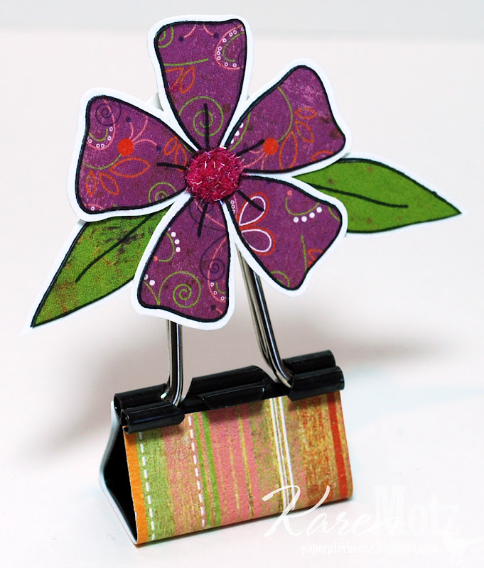 paper playhouse floral place card holders