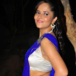 Anchor Anasuya   Sexy in Blue Saree