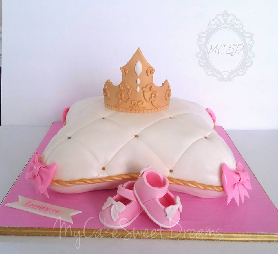 Princess Pillow Baby Shower Cake