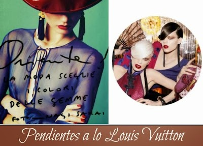 Como hacer Pendientes a lo Louis Vuitton