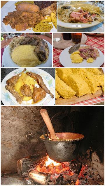 polenta, crauti, luganega, fasoi en bronzon, formai
