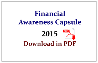 Important Financial Awareness Questions Capsule 2015 in PDF