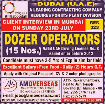 Dozer Operator Jobs in Dubai