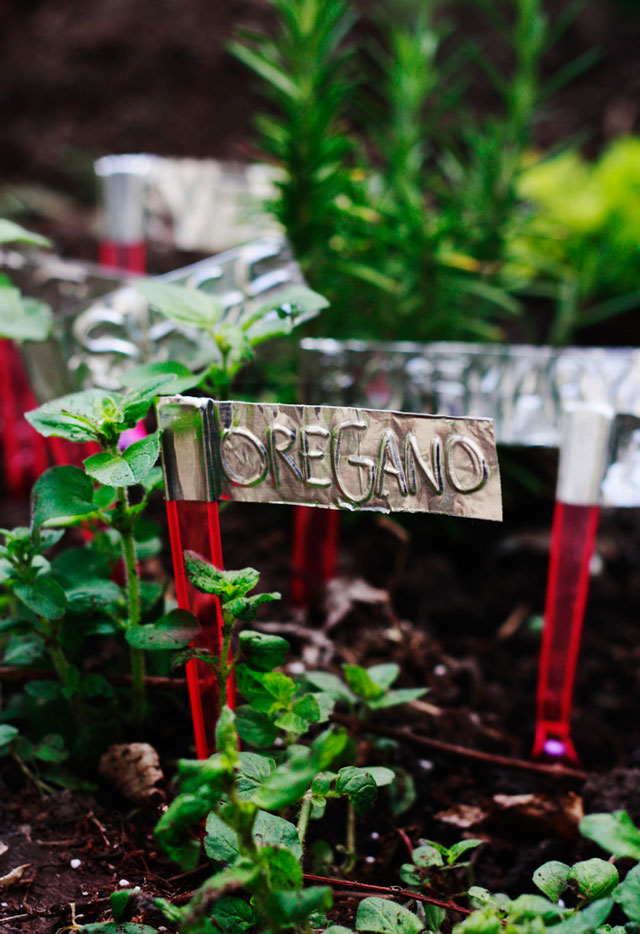 Aluminum Duct Tape Garden Markers | Make Your Own Garden Markers For Cheap With These Ideas