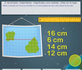 Resultado de imagen para medir con regla tic para niños
