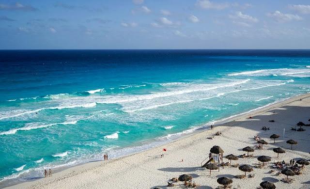 Landscape of a Beach at Cancun