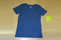 blau: Lands' End - Baumwoll/Viskose-Shirt mit V-Ausschnitt