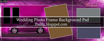 Photo Frame Background Psd 12x30