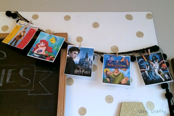 Make a movie banner for movie birthday party decorations