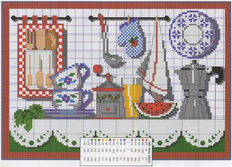 Graficos De Ponto Cruz Cozinha Para Imprimir Ponto Cruz Andreia