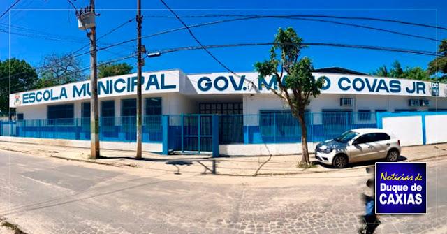 Concluída a reforma geral da Escola M. M. Covas em Caxias