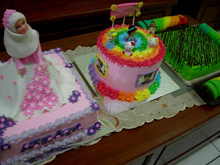 Cara Menghias Bentuk Boneka Kue Ulang Tahun Barbie Jilbab Popstar Forzen Putri Duyung Bertingkat