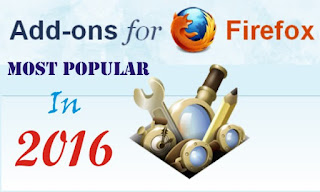 Most popular Firefox add-ons in 2016