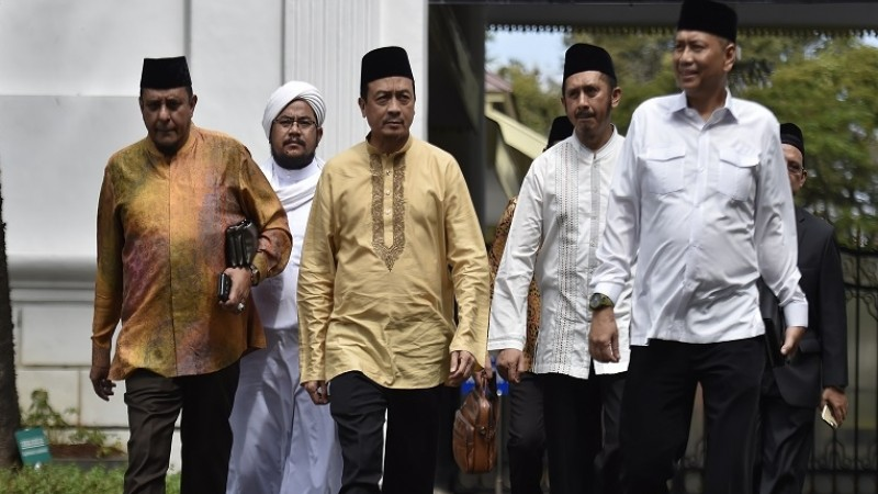 Petinggi GNPF usai bertemu Jokowi di Istana