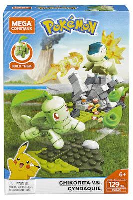 MEGA CONSTRUX Pokémon  Chikorita vs. Cyndaquil  Producto Oficial 2019   Mattel FVK69   Piezas: 129   Edad: +6 años COMPRAR ESTE JUGUETE