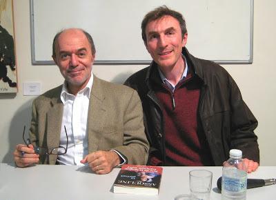 Pierre Assouline et Philippe Dornbusch lors de la sortie du Portrait - Photo © Chess & Strategy
