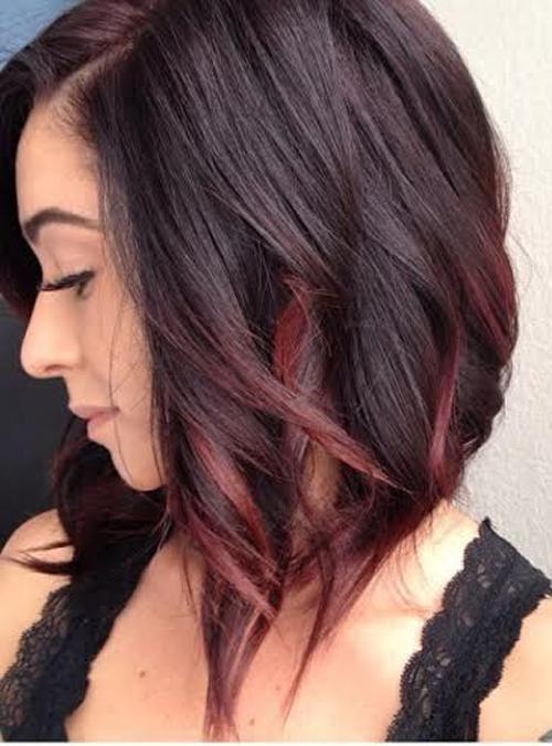 model rambut bob ombre