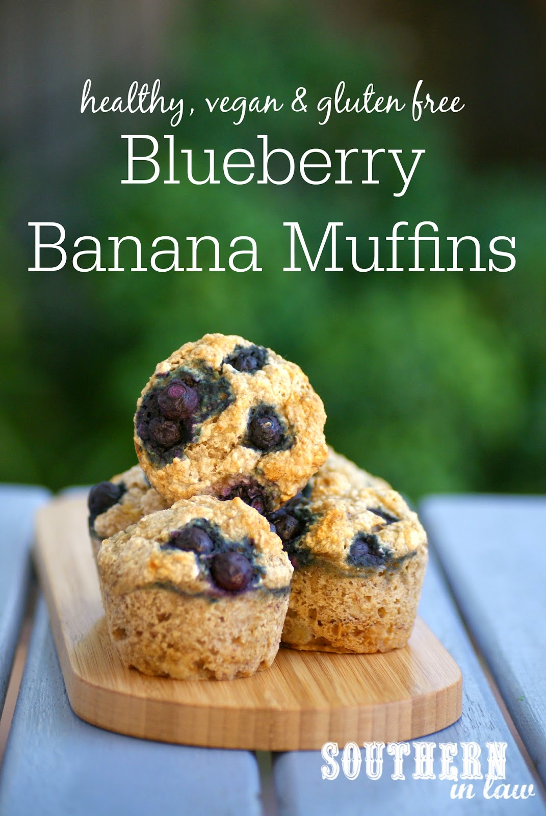 Vegan Blueberry Banana Muffin Recipe  gluten free, vegan, low fat, refined sugar free, clean eating friendly