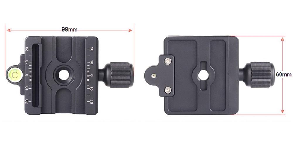 Sunwayfoto MAC-14 QR Clamp - dimensions